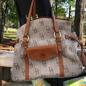 Dooney and Bourke canvas and leather bag